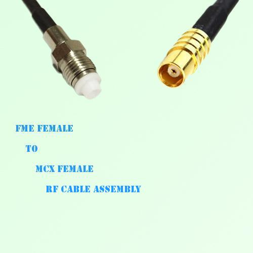 FME Female to MCX Female RF Cable Assembly