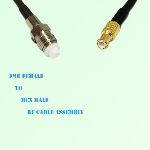 FME Female to MCX Male RF Cable Assembly