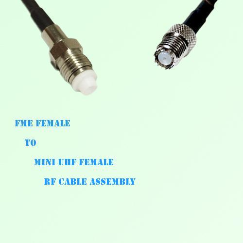 FME Female to Mini UHF Female RF Cable Assembly