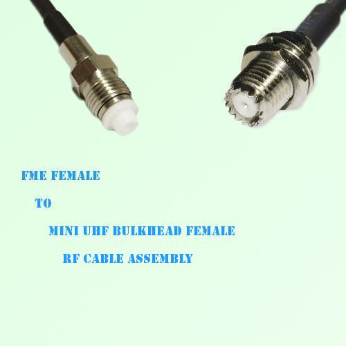 FME Female to Mini UHF Bulkhead Female RF Cable Assembly