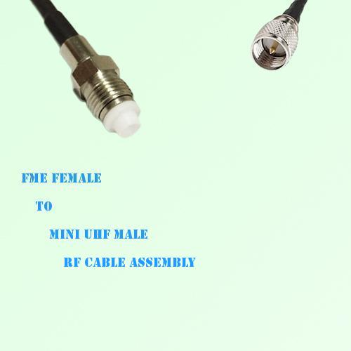 FME Female to Mini UHF Male RF Cable Assembly