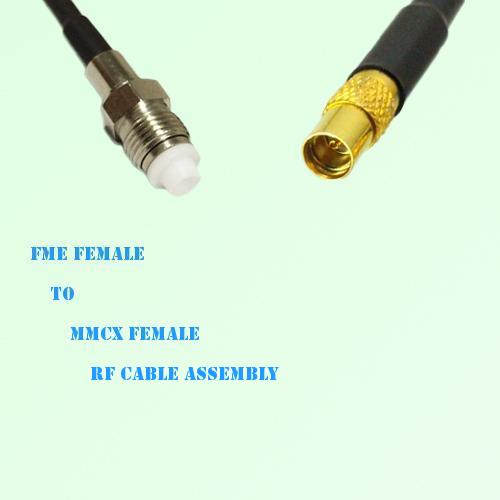 FME Female to MMCX Female RF Cable Assembly