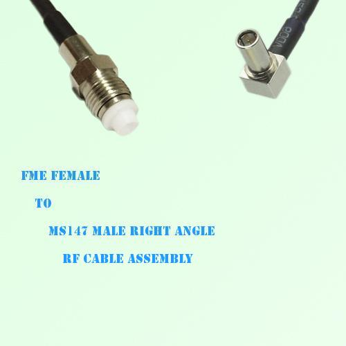 FME Female to MS147 Male Right Angle RF Cable Assembly