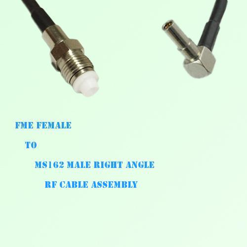 FME Female to MS162 Male Right Angle RF Cable Assembly
