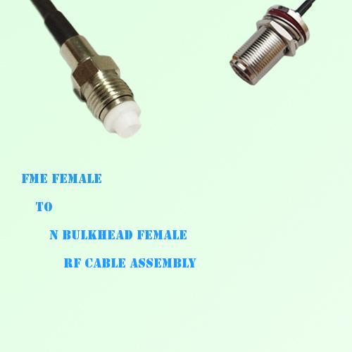 FME Female to N Bulkhead Female RF Cable Assembly