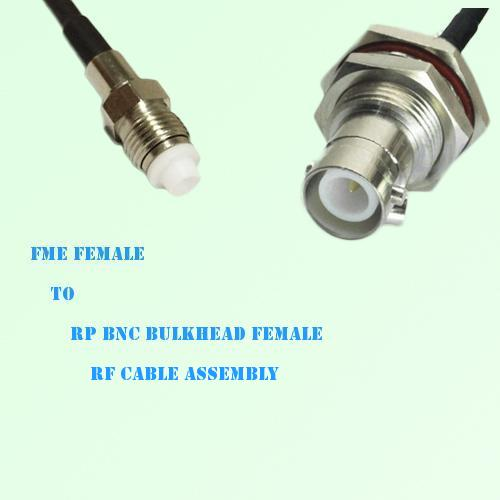 FME Female to RP BNC Bulkhead Female RF Cable Assembly