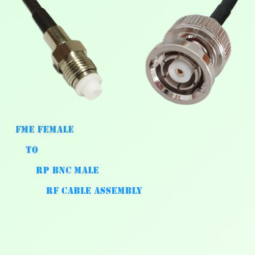 FME Female to RP BNC Male RF Cable Assembly