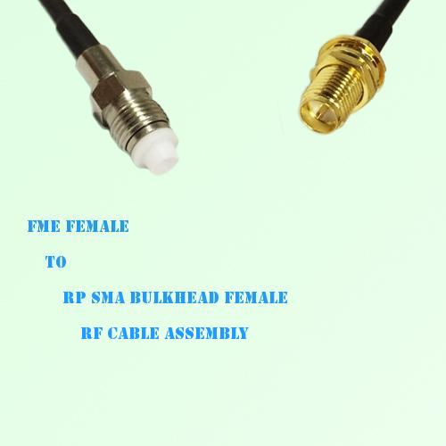 FME Female to RP SMA Bulkhead Female RF Cable Assembly