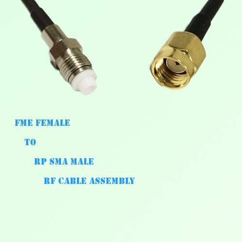 FME Female to RP SMA Male RF Cable Assembly
