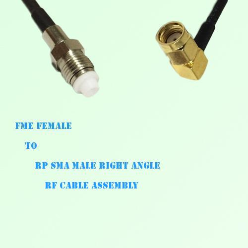 FME Female to RP SMA Male Right Angle RF Cable Assembly