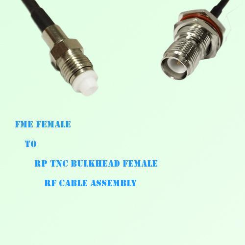 FME Female to RP TNC Bulkhead Female RF Cable Assembly
