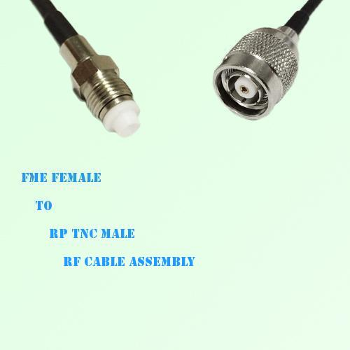 FME Female to RP TNC Male RF Cable Assembly