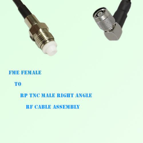 FME Female to RP TNC Male Right Angle RF Cable Assembly