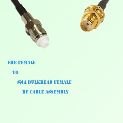 FME Female to SMA Bulkhead Female RF Cable Assembly