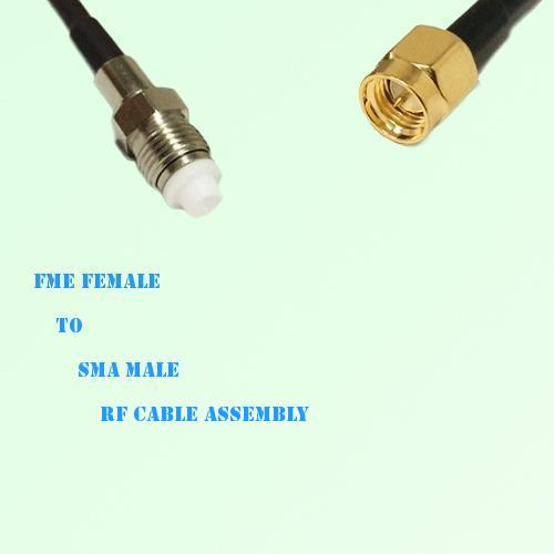 FME Female to SMA Male RF Cable Assembly