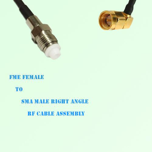 FME Female to SMA Male Right Angle RF Cable Assembly