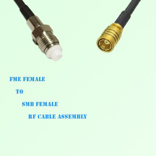 FME Female to SMB Female RF Cable Assembly