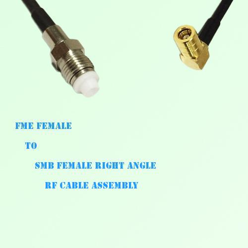 FME Female to SMB Female Right Angle RF Cable Assembly