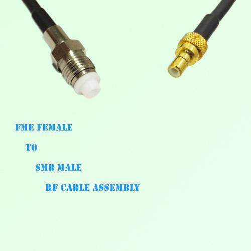 FME Female to SMB Male RF Cable Assembly