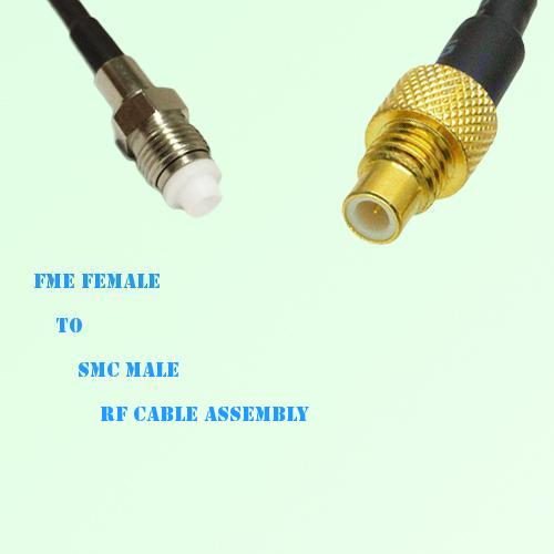 FME Female to SMC Male RF Cable Assembly