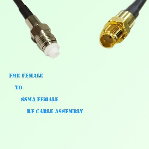 FME Female to SSMA Female RF Cable Assembly