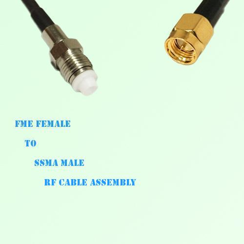 FME Female to SSMA Male RF Cable Assembly