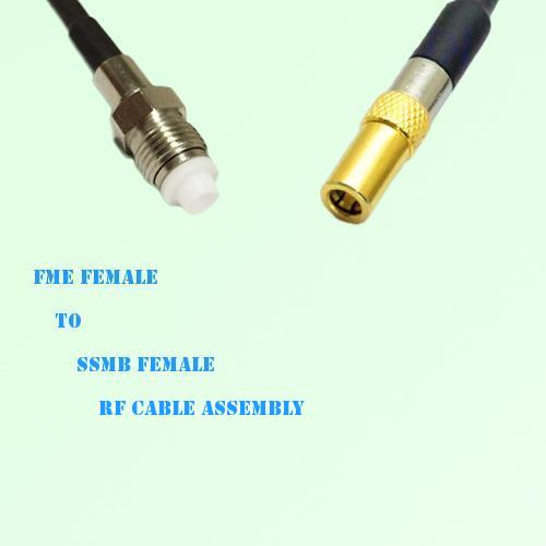 FME Female to SSMB Female RF Cable Assembly