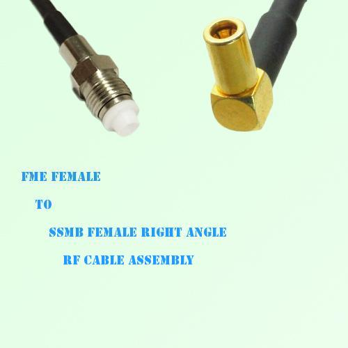 FME Female to SSMB Female Right Angle RF Cable Assembly