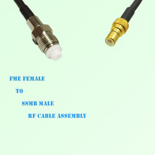 FME Female to SSMB Male RF Cable Assembly