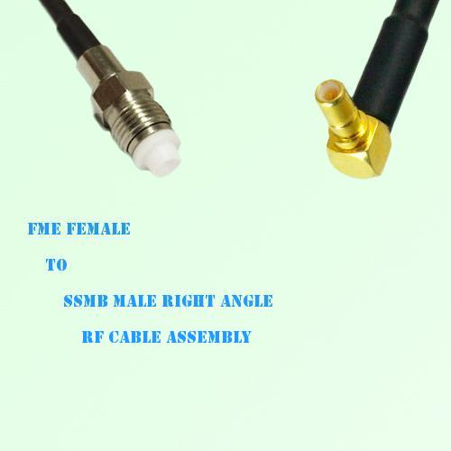 FME Female to SSMB Male Right Angle RF Cable Assembly
