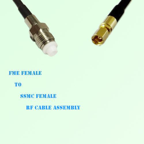 FME Female to SSMC Female RF Cable Assembly