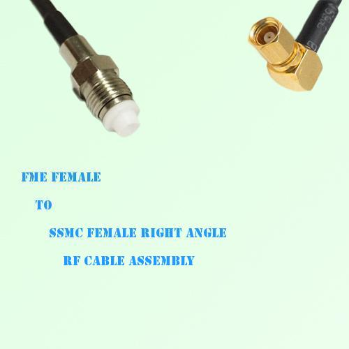 FME Female to SSMC Female Right Angle RF Cable Assembly