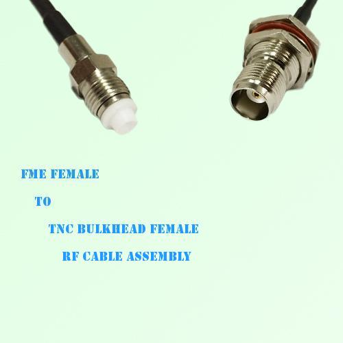 FME Female to TNC Bulkhead Female RF Cable Assembly