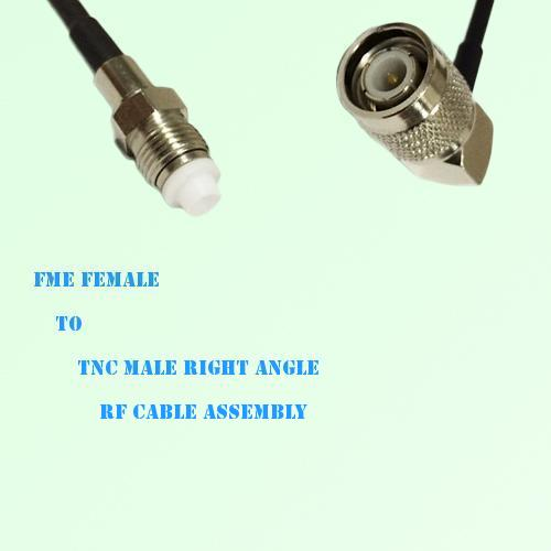 FME Female to TNC Male Right Angle RF Cable Assembly