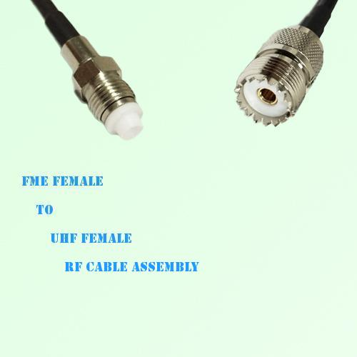 FME Female to UHF Female RF Cable Assembly