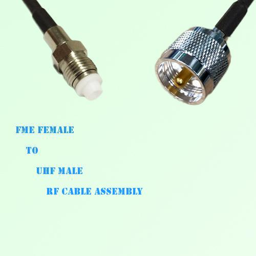 FME Female to UHF Male RF Cable Assembly