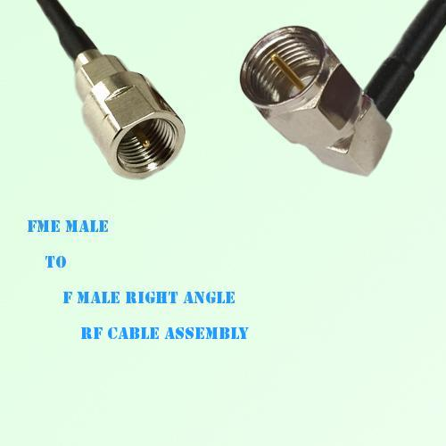 FME Male to F Male Right Angle RF Cable Assembly