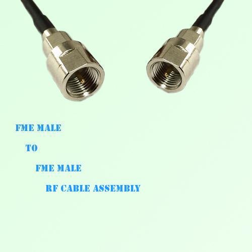 FME Male to FME Male RF Cable Assembly