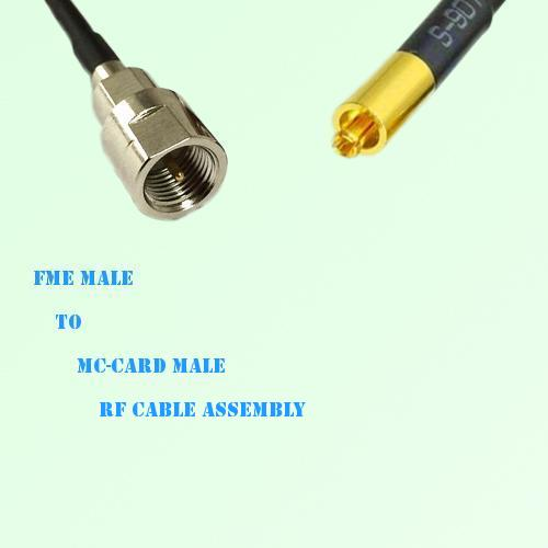FME Male to MC-Card Male RF Cable Assembly