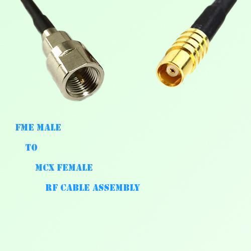 FME Male to MCX Female RF Cable Assembly