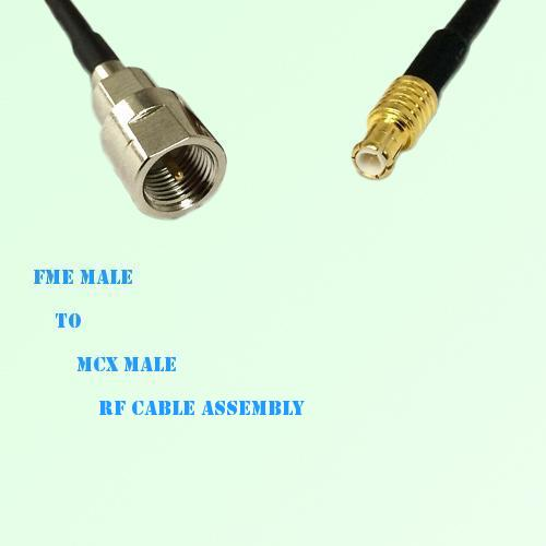 FME Male to MCX Male RF Cable Assembly