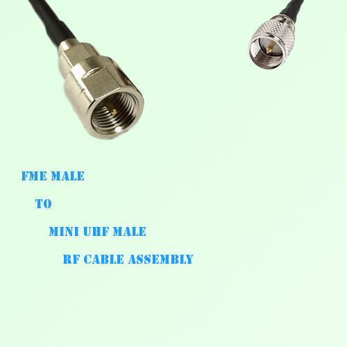 FME Male to Mini UHF Male RF Cable Assembly