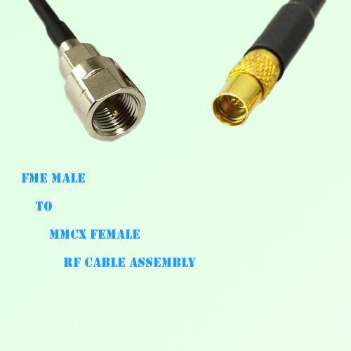 FME Male to MMCX Female RF Cable Assembly
