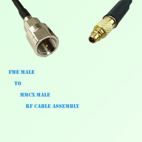 FME Male to MMCX Male RF Cable Assembly