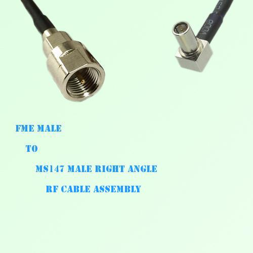 FME Male to MS147 Male Right Angle RF Cable Assembly