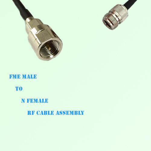 FME Male to N Female RF Cable Assembly