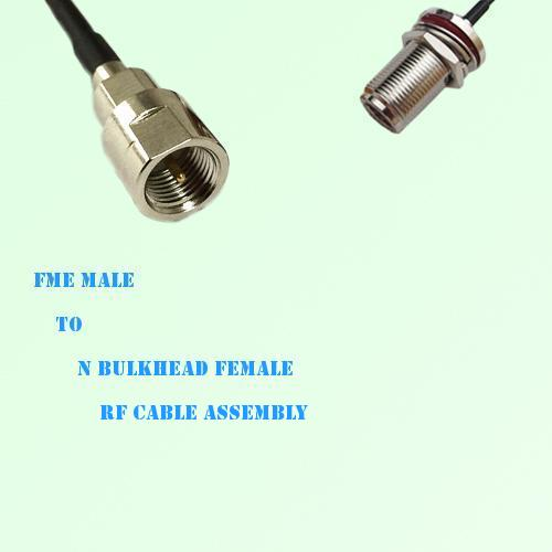 FME Male to N Bulkhead Female RF Cable Assembly