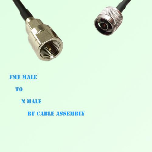FME Male to N Male RF Cable Assembly