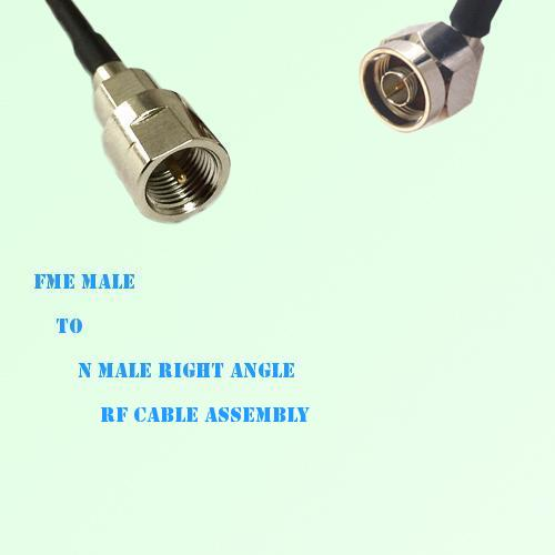 FME Male to N Male Right Angle RF Cable Assembly
