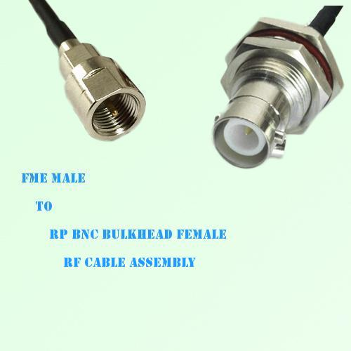 FME Male to RP BNC Bulkhead Female RF Cable Assembly